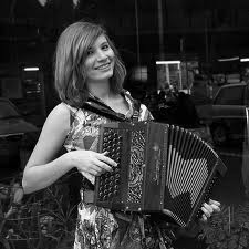 girl playing accordion