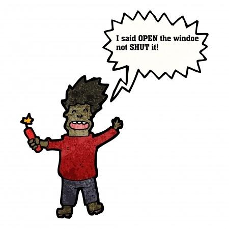 Dynamite out window