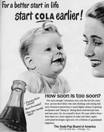 Baby drinking Coke