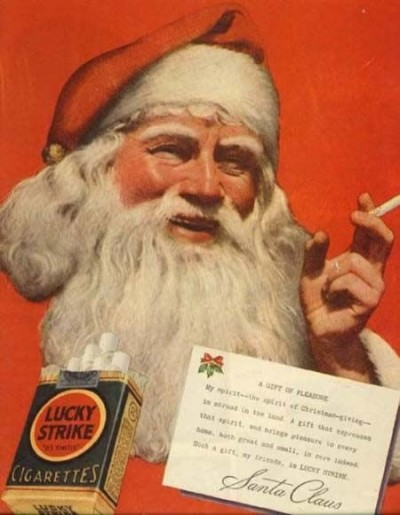 Santa Smoking Lucky Strike