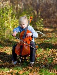 child with cello