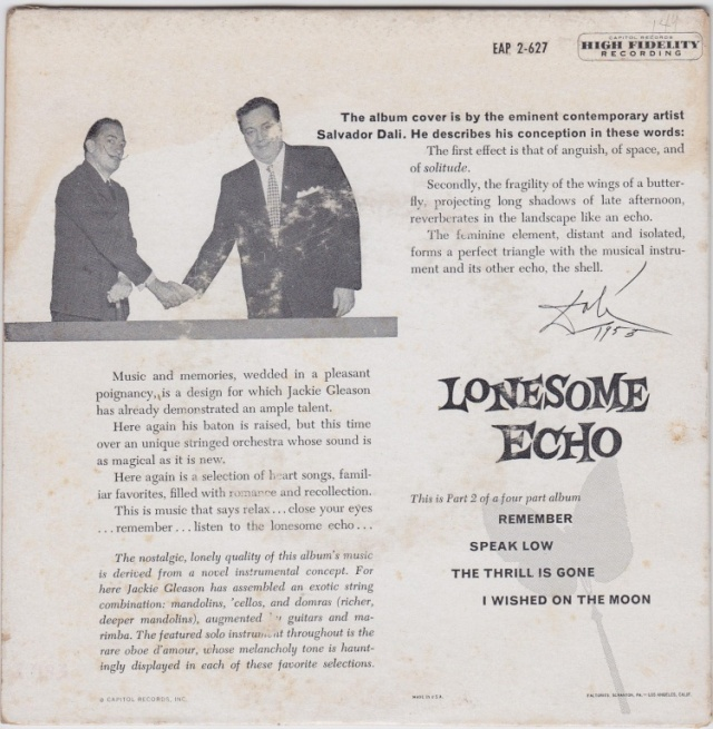 Jackie Gleason liner notes