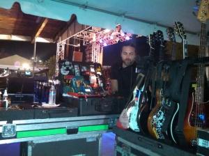 """Zach preparing J one""""s guitars"""