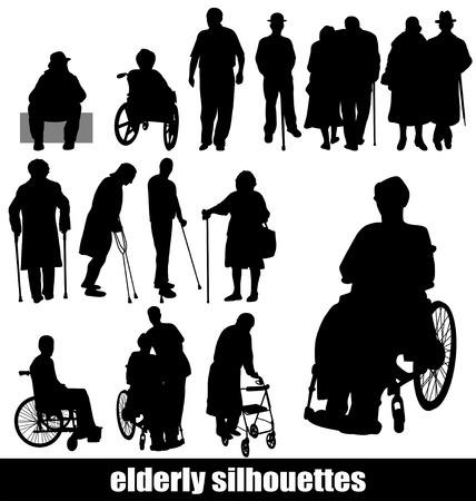elderly sillhouette