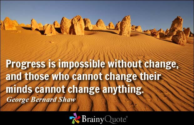Progess quote