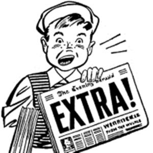 Extra newsboy