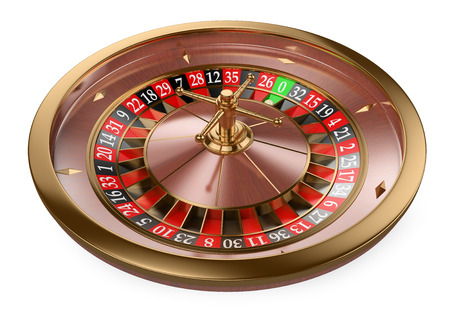 37601287 - 3d white people. 3d casino roulette. isolated white background.